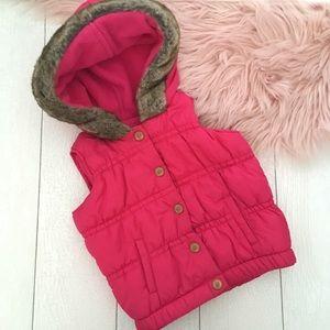 🌸3/$30🌸 Old Navy pink vest + free onesie